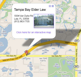 map to Tampa Bay Elder Law